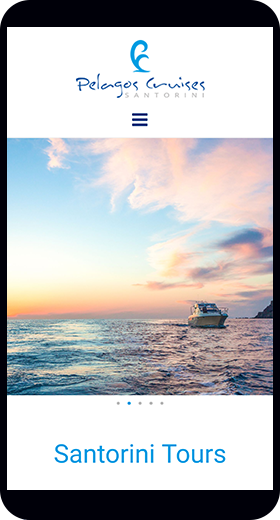 Pelagos Cruises Santorini mobile